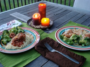 Dinner outside...not much longer